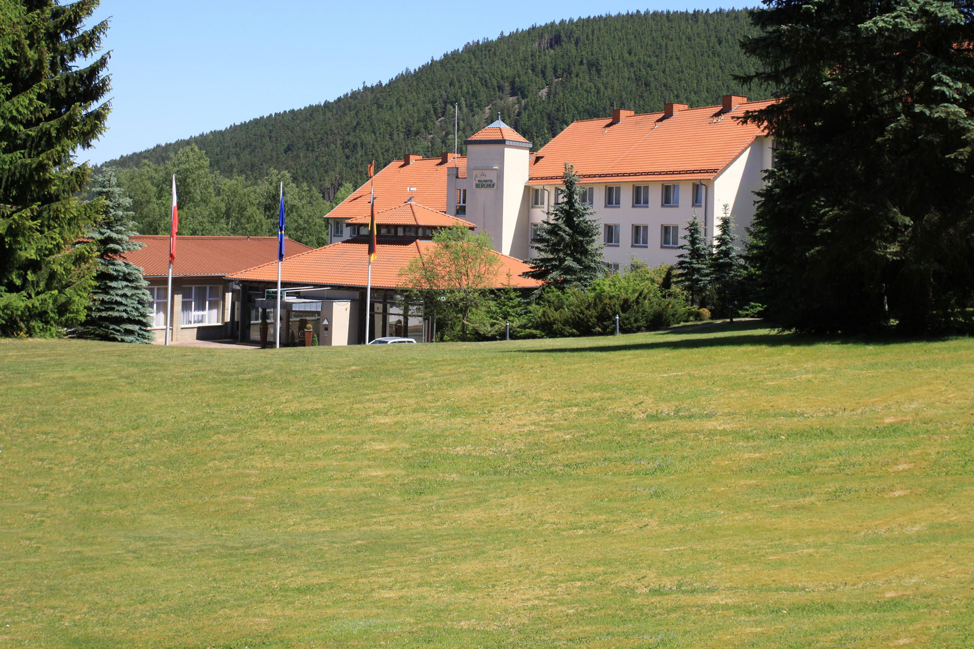 Waldhotel Berghof in Luisenthal in summer